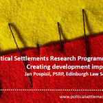 'Political Settlements Research Programme': Creating Development Impact?