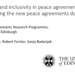 Security and Inclusivity in Peace Agreements: Introducing the New Peace Agreement Dataset