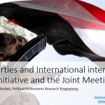 Political Parties and International Interventions:  The GCC Initiative and the JMP