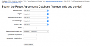Search Function of the PA-X database