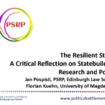 The Resilient State: A Critical Reflection on Statebuilding Research and Policy