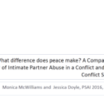 What difference does peace make? A Comparative Study of Intimate Partner Abuse in a Conflict and Post-Conflict Setting