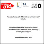 Toward a Framework of Transitional Justice in Israel/Palestine