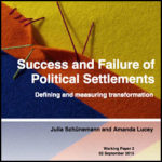 Success and Failure of Political Settlements: Defining and Measuring Transformation