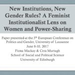 New institutions, new gender rules