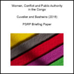 Women, Conflict and Public Authority in the Congo
