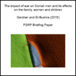 The impact of war on Somali men and its effects on the family, women and children