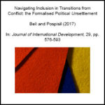 Navigating Inclusion in Transitions from Conflict: The Formalised Political Unsettlement