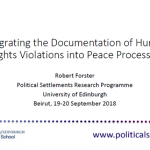 Integrating the Documentation of Human Rights Violations into Peace Processes