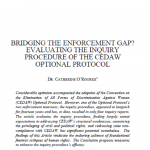 Bridging the Enforcement Gap? Evaluating the Inquiry Procedure of the CEDAW Optional Protocol