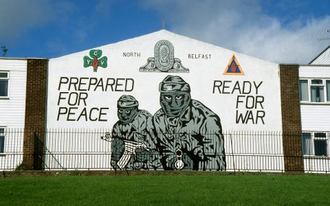 Mural on Belfast wall