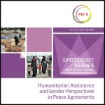 Humanitarian Assistance and Gender Perspectives in Peace Agreements