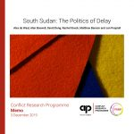 South Sudan: The Politics of Delay