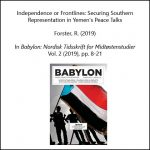 Independence or Frontlines: Securing Southern Representation in Yemen's Peace Talks
