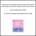 Experiences of intimate partner violence: The role of psychological, economic, physical and sexual violence