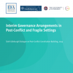 Interim Governance Arrangements in Post-Conflict and Fragile Settings