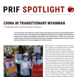 China in Transitionary Myanmar: Challenging paths to democratization and peace